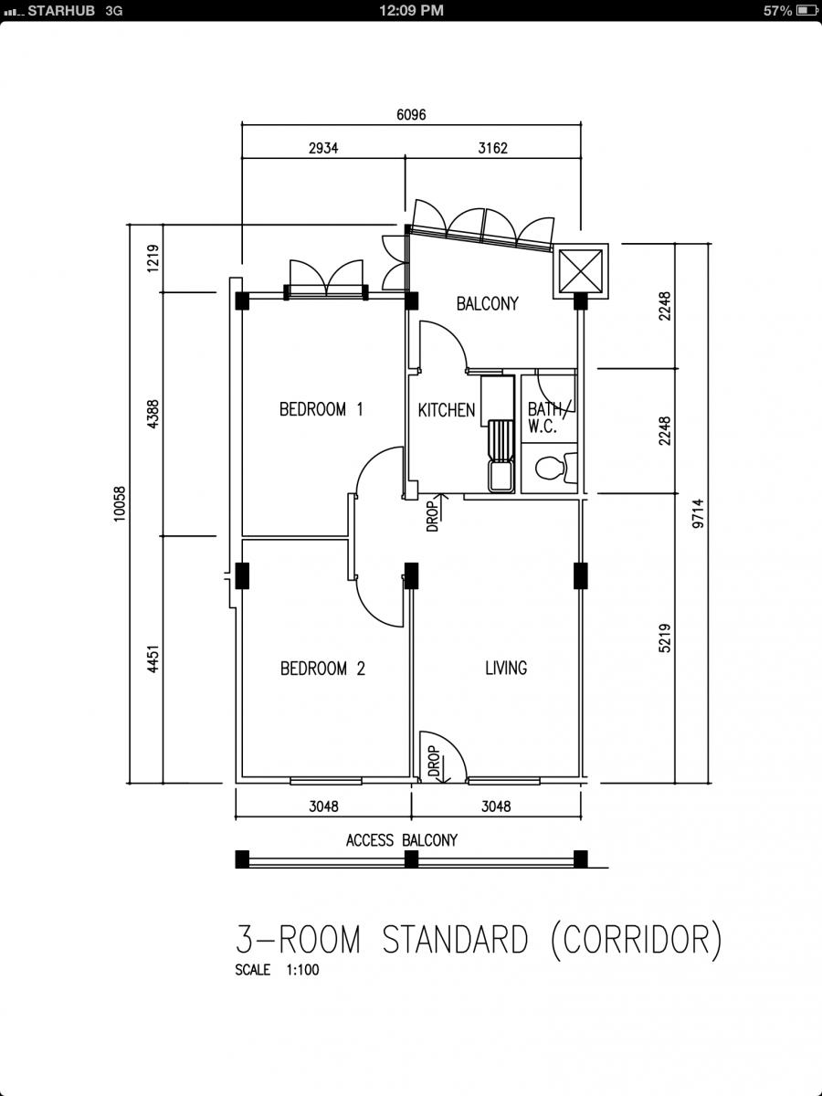 Hdb 3 Room Flat: 3-Room 56Sqm Renovation