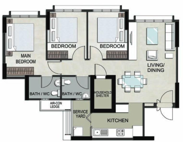 Keat Hong Mirage Floor Plan