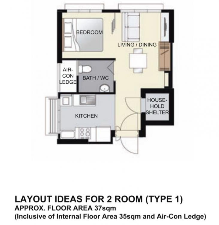 L Shaped Single Storey Homes Interior Design I J C Mobile: Looking For Feedback On The 3D Design Of My HDB BTO 2 Room