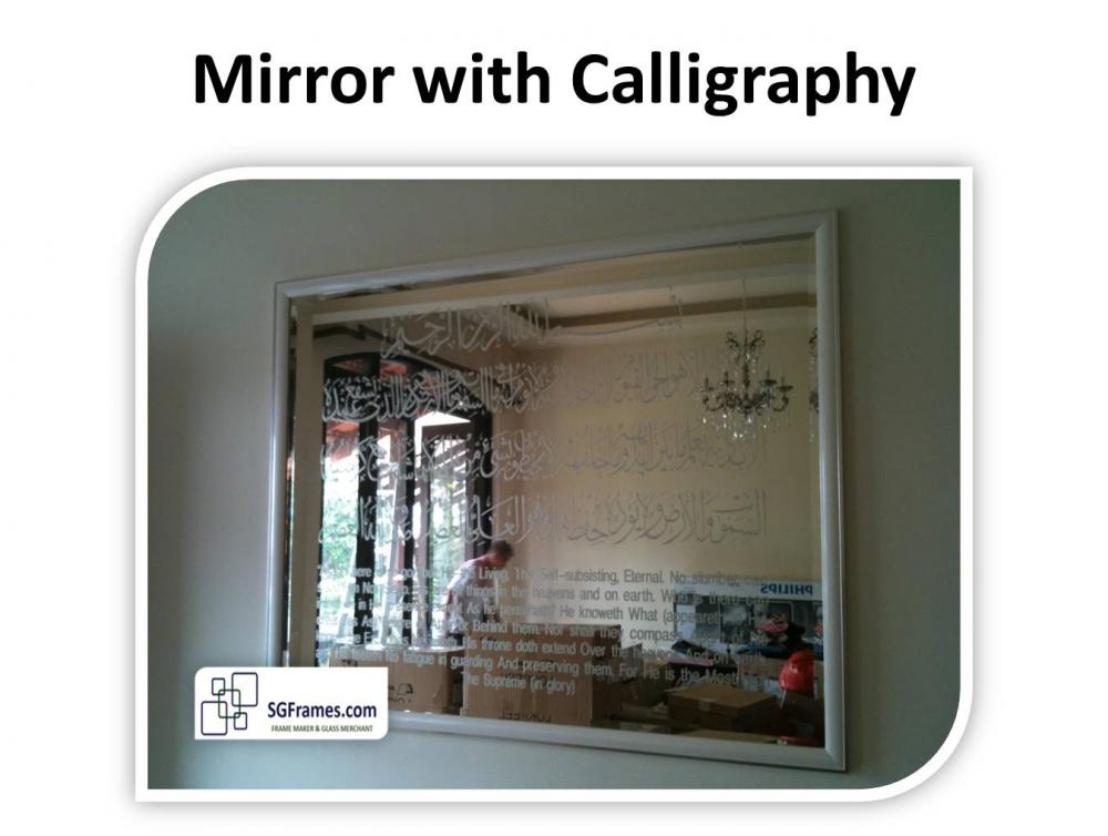 89d41294d3c1 Mirror Works with Calligraphy and Custom Frames - Living, Dining ...
