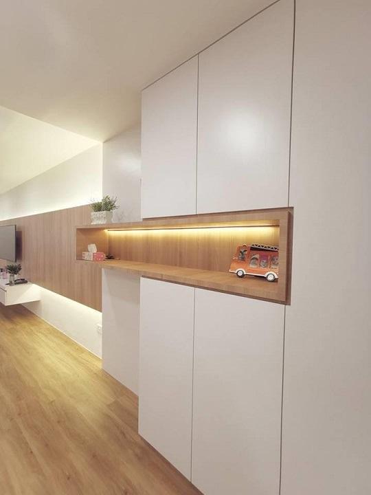 de space interior design jb, adjoining small bedroom wardrobe