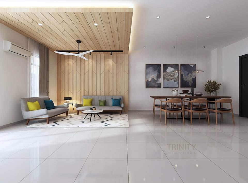 chateau @ eco botanic, contemporary living room, interior designer johor bahru, trinity design studio