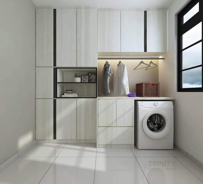 chateau @ eco botanic, laundry room, interior designer in johor bahru, trinity design studio