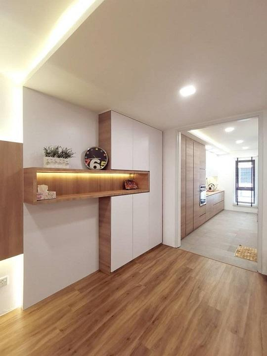 de space interior design jb, adjoining small bedroom and living room
