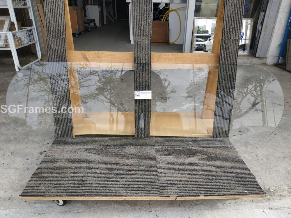 SGFrames.com Two Side Semi Circle  Shaped Table Top Glass Tempered 001.jpg