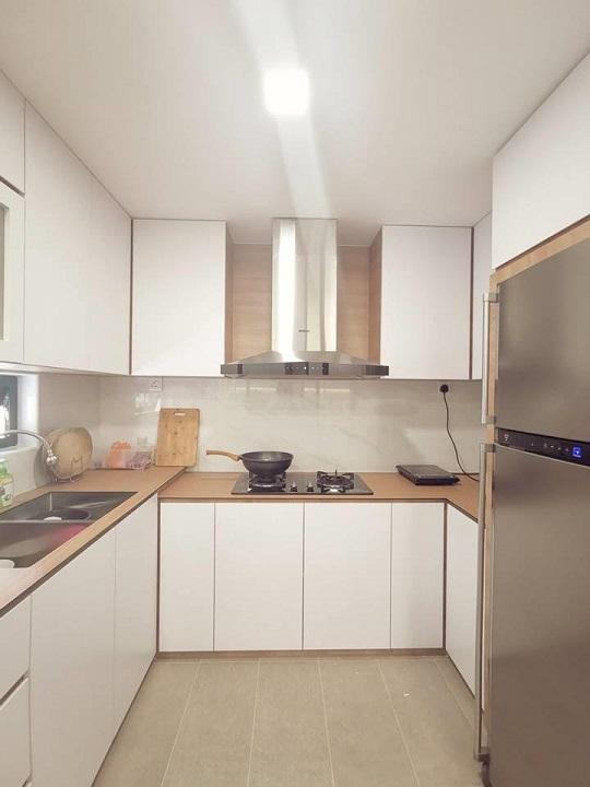 de space interior design jb, small kitchen design, front