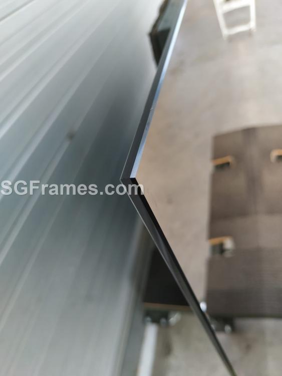 SGFrames.com Bronze Tinted Mirror Frameless Installation on wall Flat Polished Edges 003.jpeg