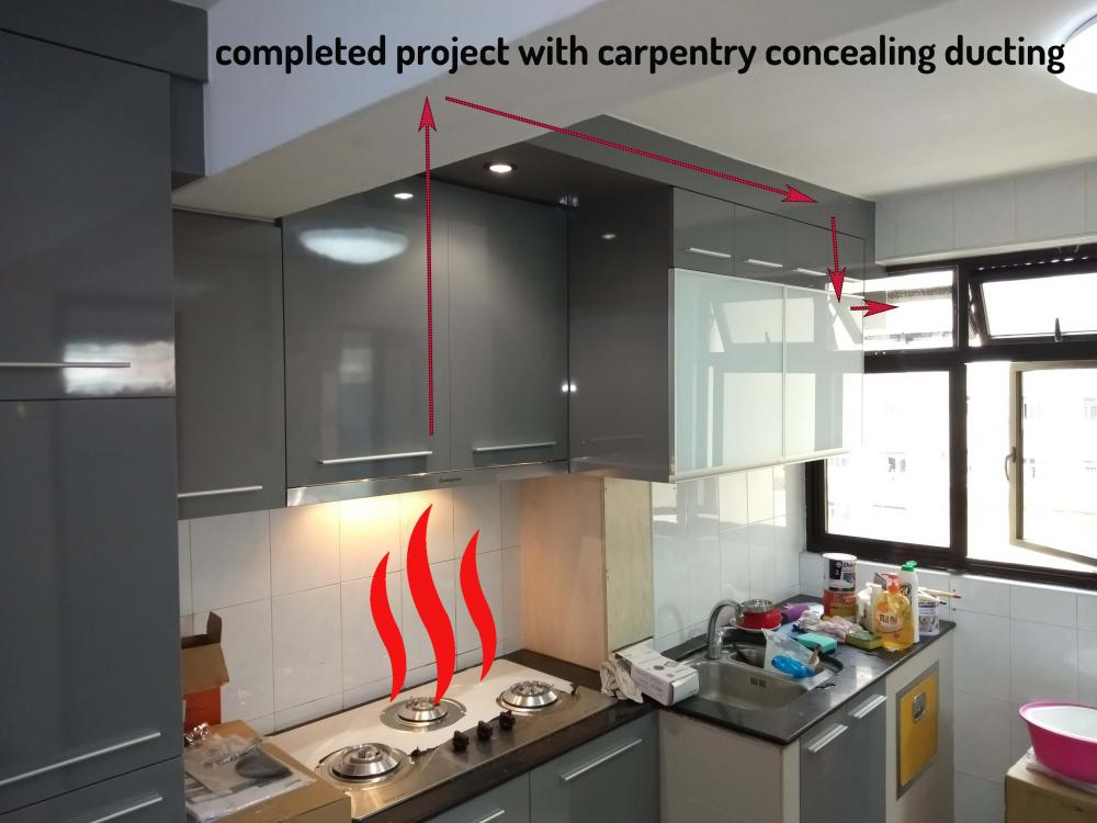 Kitchen Hood Ducting Ventilation System Hdb Approved T C