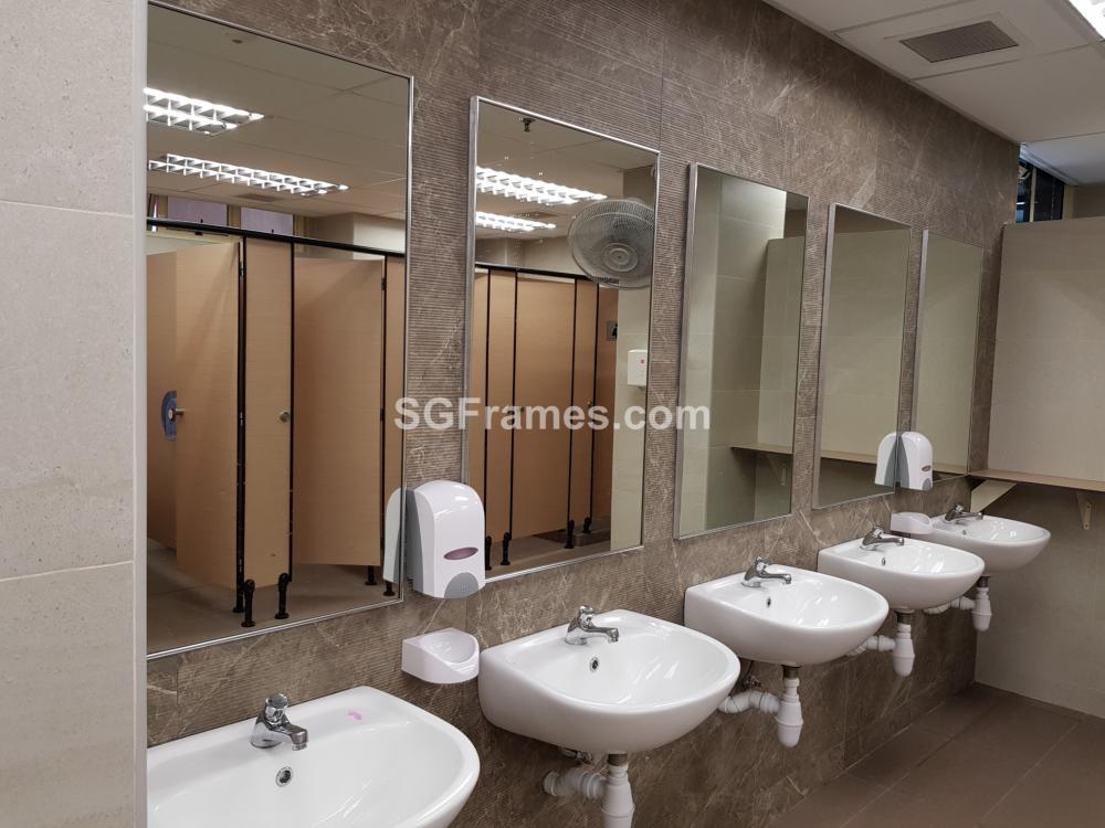SGFrames.com Aluminium Framed Mirror for Toilet 004.jpg