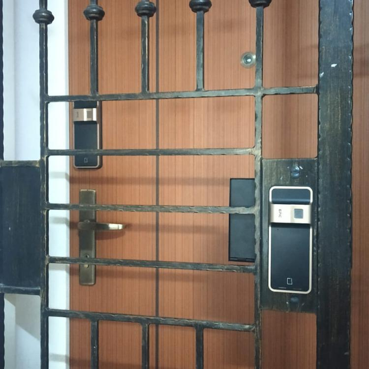 $599 stain gold card gate lock and door lock.jpeg