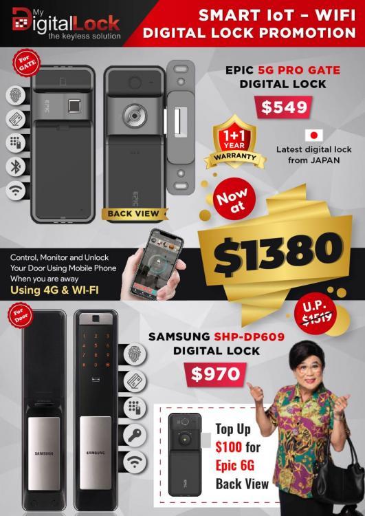 Samsung SHP-DP609 and EPIC 5G PRO Gate Digital Lock at $1380.jpeg