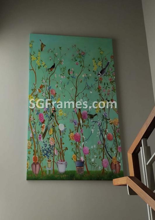 SGFrames.com Canvas Stretching and framing of Oil painting 030920d.jpg