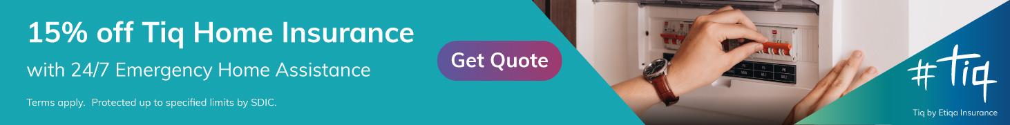 Tiq Home Insurance promotion