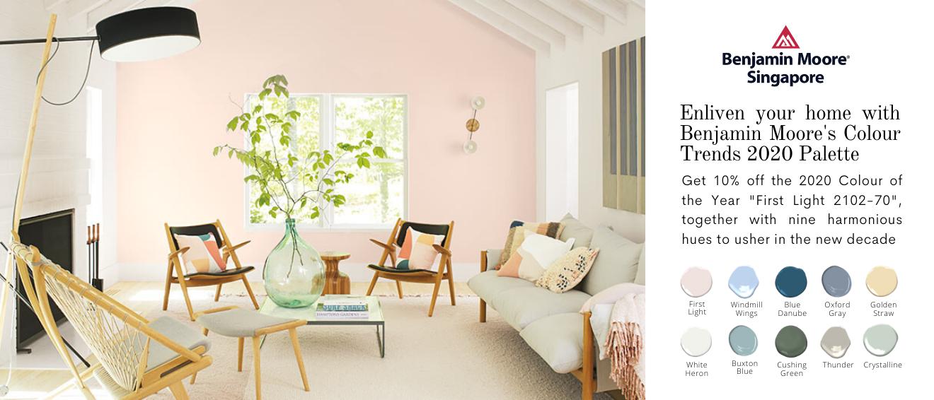 Benjamin Moore colour trends 2020