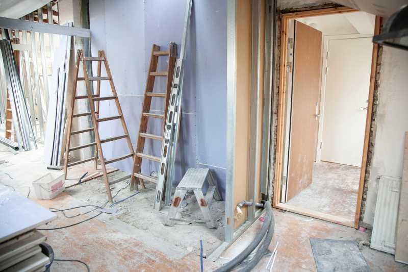 House remodelling in progress