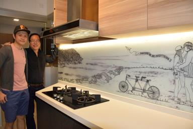 image for He Brings Artwork Into the Kitchen