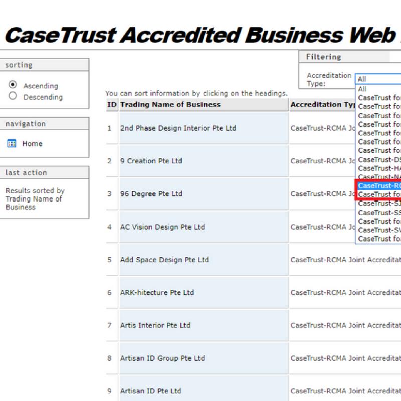 casetrust accredited contractors